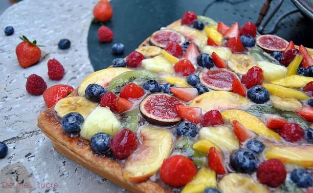 Pastís de fruita i xocolata, o pastís primavera a la nostra manera