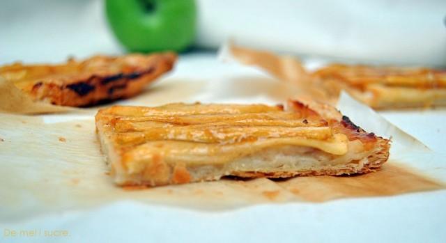 Pasta de fulls amb crema i poma